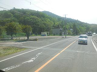 山水団地前の回転場(左側)