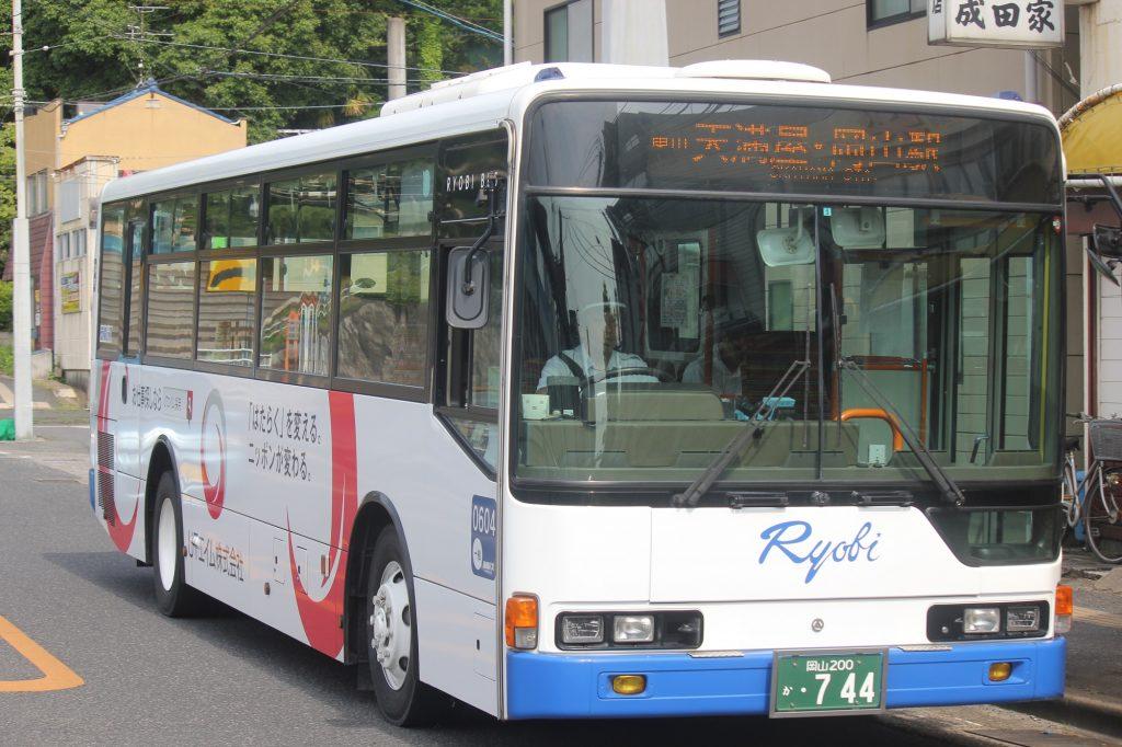 両備バスの路線バス車両